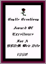 Castle Creations Award of Excellance for a BDSM site